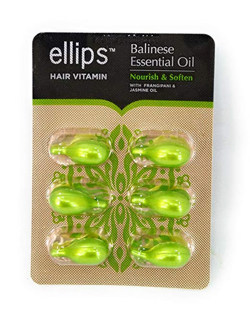 Ellips Hair Vitamin Balinese Essential Oil - Nourish & Soften, 12 Blister (@ 6 Capsule)
