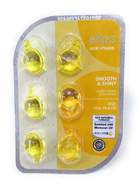Ellips Hair Vitamin (Moroccan Oil) - Smooth & Shiny, 12 Blister (@ 6 Capsule)