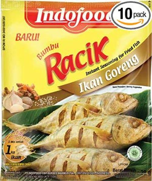 Indofood Bumbu Racik Ikan Goreng, 20 Gram (Pack of 10)