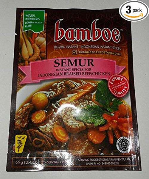 Bamboe Semur - Indonesian Braised Beef/Chicken, 69 Gram