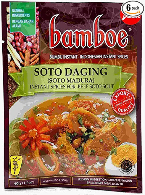 Bamboe Soto Daging Madura - Beef Soup Spice, 40 Gram