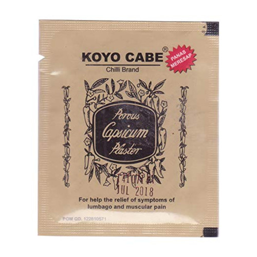 Koyo Cabe Chilli Brand Porous Capsicum Plaster, Single Pack