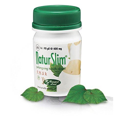 NaturSlim (Natur Slim) Natural Slimming Pills for Men and Women, 1 Bottle (90 Pills)