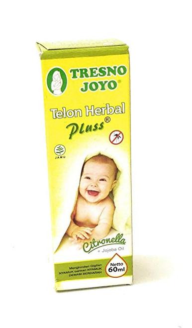 Tresno Joyo Minyak Telon Oil Herbal plus - Citronella, 60 Ml (2 Fl