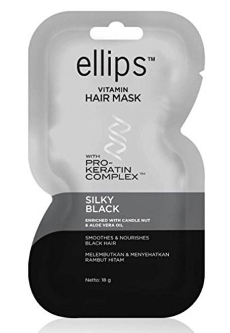 Ellips Hair Mask (Pro Keratin) - Silky Black , 18 Gram (Pack of 10)