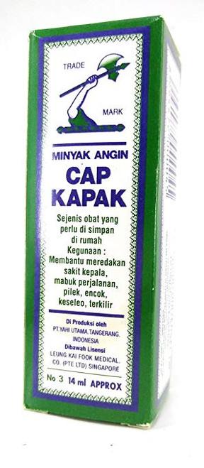 Minyak Angin Cap Kapak (Axe Brand)- Medicated Oil (no.3/ 14ml)