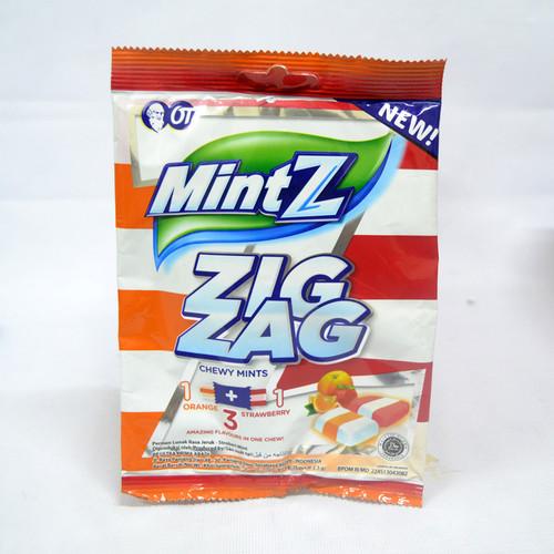 Mintz Zig Zag (Strawberry Orange) Mint Chewy Candy, 97.5 Gram