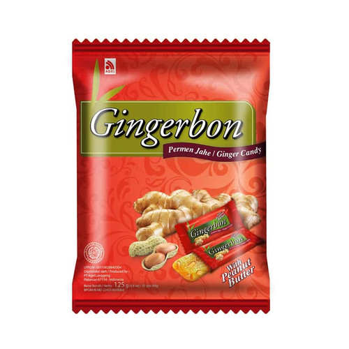 Gingerbon Ginger Sweets Candy with Peanut Butter, 125 Gram