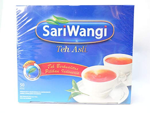 Sariwangi Teh Asli - Indonesia Black Tea 50-ct, 3.2Oz (Pack of 1)