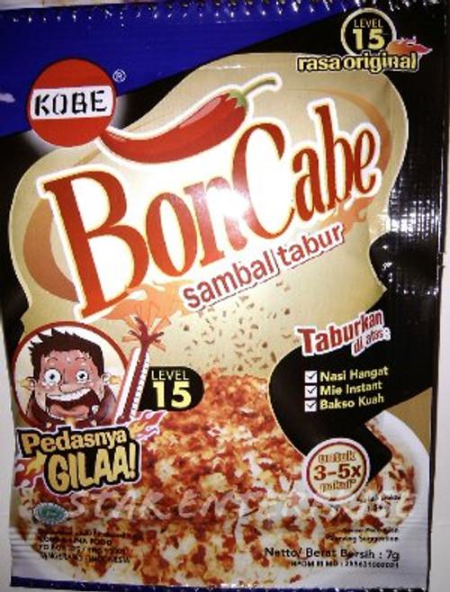 Kobe Bon Cabe (Boncabe) Sambal Tabur - Sprinkle Chili Flakes Level 15