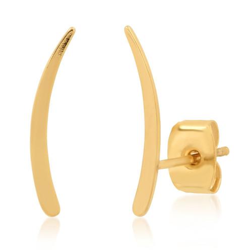 Simple Gold Crawler Stud Earring