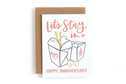 Takeout Anniversary Card