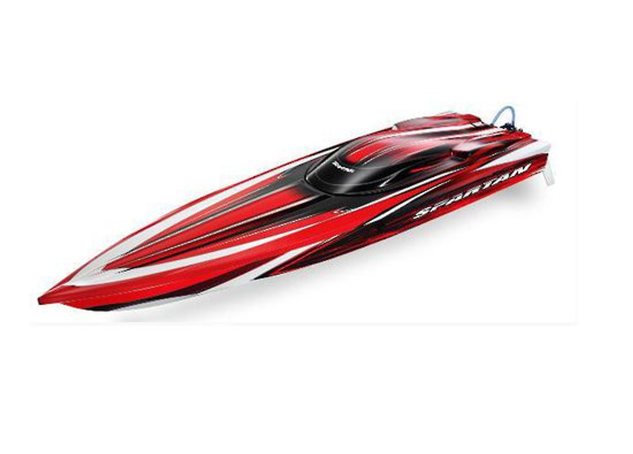 Traxxas 57076-4 Spartan brushless rc speed boat with TSM