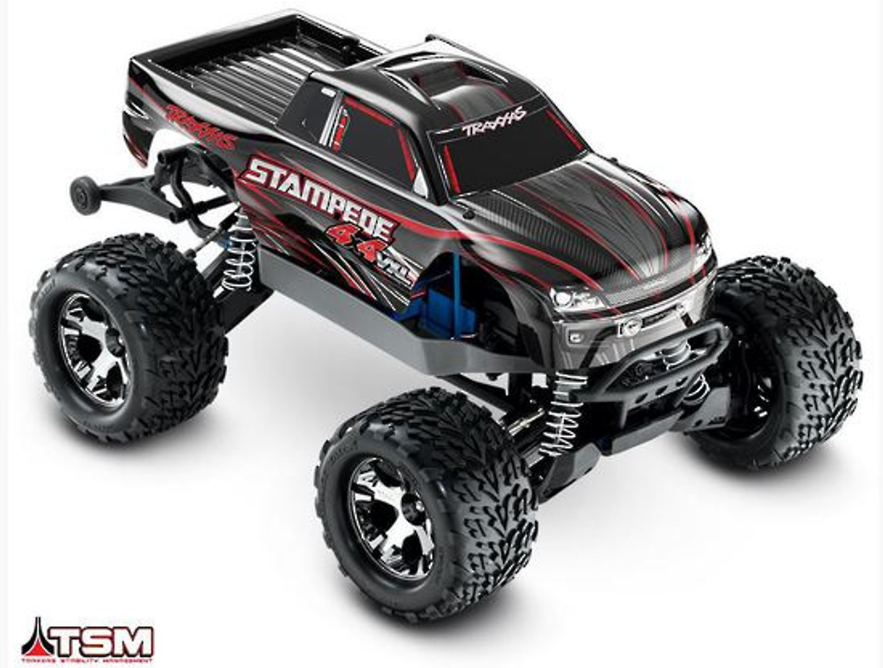 Traxxas 67086-4 Stampede VXL 1/10 4X4 RTR RC Monster Truck with TMS