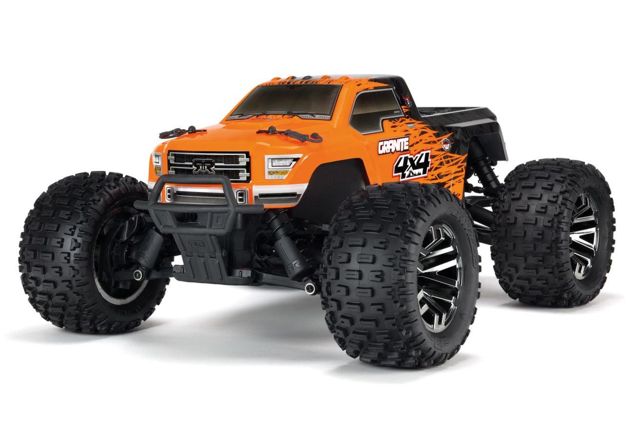 Monster Truck Rc Cars >> Arrma 1 10 Granite 3s Blx 4wd Brushless Rc Monster Truck Orange 80kph