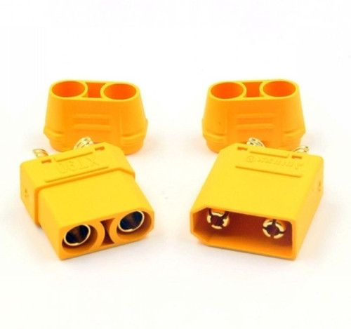 XT90 Connectors Male / Female 1 Pair with Covers