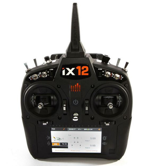 iX12 - Spektrum SPMR12000 12-Channel DSMX Transmitter Only, Android-powered touchscreen