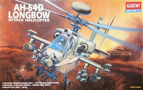 Academy 1/48 Ah-64D Longbow Plastic Model Aircraft