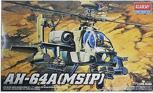 Academy 1/48 Ah-64 Apache Plastic Model Aircraft