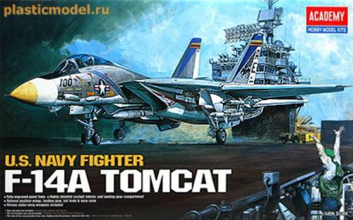 Academy 1/48 F-14A Tomcat Plastic Model Aircraft