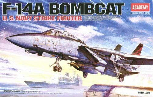Academy 1/48 F-14A Bombcat Plastic Model Aircraft