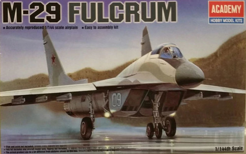 This is the Academy 1/144 Mig-29 Fulcrum Plastic Model Aircraft kitset