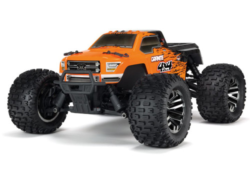 Arrma 1/10 GRANITE 3S BLX 4WD Brushless RC Monster Truck Orange 80kph+ ARAD64NL