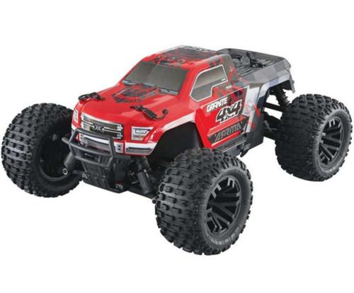 Arrma 1/10 Granite Mega 4WD Brushed RTR RC Monster Truck Red 50kph+ ARA960RL