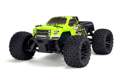 Arrma 1/10 Granite Mega 4WD Brushed RTR RC Monster Truck Green 50kph+