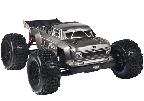Arrma 1/8 Outcast BLX 6S 4WD RC Monster Stunt Truck Silver 96Kph+ ARAD84SW