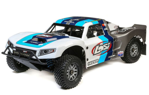 Losi LOS05014T1 1/5 5IVE-T 2.0 4WD BND Gas RC Short Course Truck, Blue