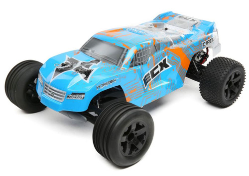 ECX Circuit 1/10 2WD RC Stadium Truck Brushed with LiPo RTR, Blue/Orange