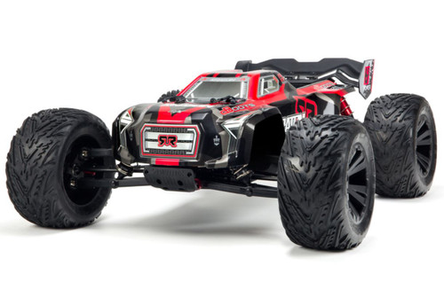Arrma 1/8 Kraton 6S BLX 4WD RC Speed Monster Truck Red 96kph+ ARAD81LR