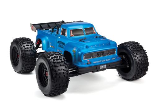 Arrma 1/8 NOTORIOUS 6S BLX 4WD Classic Stunt RC Monster Truck Blue 96kph+ ARAD89BB