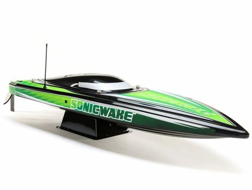"Pro Boat PRB08032T2 Sonicwake 36"" Self-Righting Brushless Deep-V RTR RC Boat, Black"