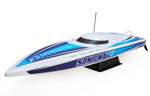 """Pro Boat PRB08032T1 Sonicwake 36"""" Self-Righting Brushless Deep-V RTR RC Boat, White"""