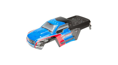 Arrma AR402198 Painted Decaled Trimmed Body Shell Blue/Black: Voltage