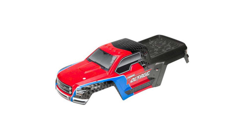 Arrma AR402196 Painted Decaled Trimmed Body Shell Red/Black: Voltage