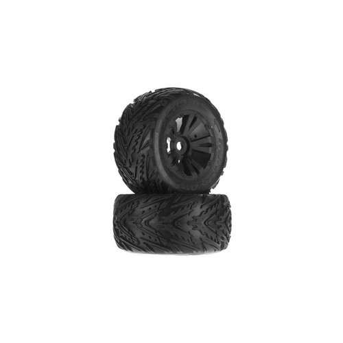 Arrma AR550034 DBoots Minokawa MT 6S Tyre Wheel Set Glued Black (2)