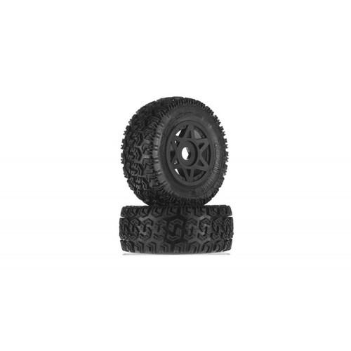 Arrma AR550003 DBoots Sidewinder 2 Tyre Wheel Set Glued Black (2)