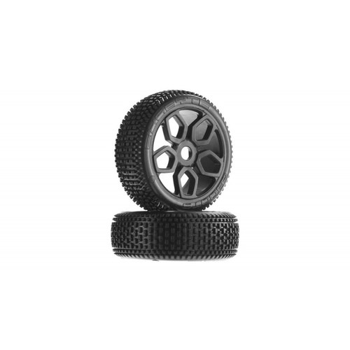 Arrma AR550027 DBoots Exabyte NB Tyre Wheel Set Glued Black (2)