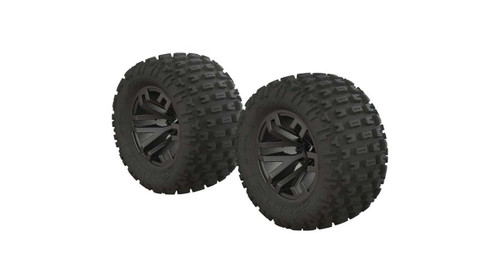 Arrma AR550044 DBoots Fortress MT Tyre Set Glued Black (2)