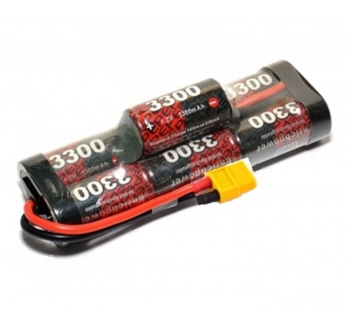 EP 8.4V NiMh 3300mAH Hump Pack Battery with XT60 Connector PK-EP3300-7BH-XT60