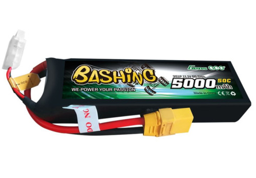 Gens-Ace 3S 11.1V 5000mAh 50C LiPo Battery Bashing Series with XT90 Connector