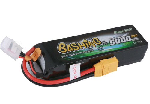 Gens-Ace 4S 14.8V 5000mAh 50C RC Car LiPo Battery Bashing Series with XT90 Connector