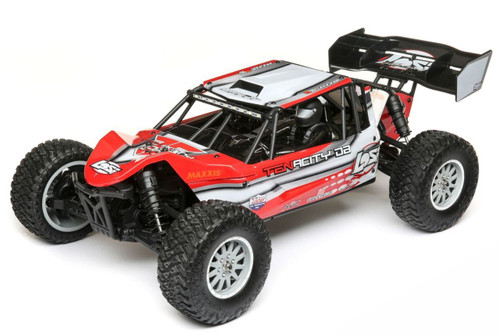 Losi LOS03014T1 1/10 TENACITY-DB 4WD RC Desert Buggy with AVC, Red/Grey