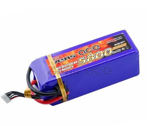 Gens-Ace 6S 22.2V 5800mAh 45C LiPo Battery