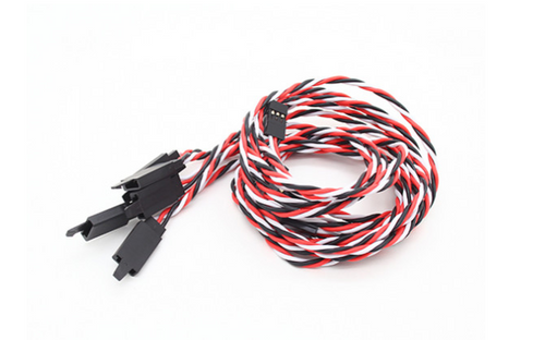 60CM Servo extension Lead: Futaba w/Safety Hook