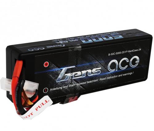 Gens-Ace 2S 7.4V 5000mAh 50C Hardcase RC Car LiPo Battery With XT60