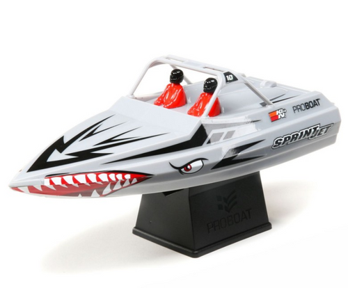 "Pro Boat Sprintjet 9"" Self-Righting Jet Boat Brushed RTR, Silver"